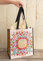 Giving Bag Floral Cream XL