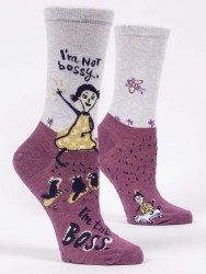 Socks I'm Not Bossy Crew