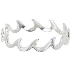 Ring Wave Band Silver Size 5