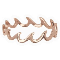 Ring Wave Band Rose Gold Sz 5