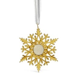 Ornament Snowflake NSB Gold