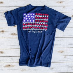 Tee  S/S Turtle Flag Navy MD
