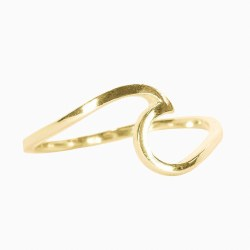 Ring Wave Gold Size 5