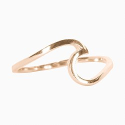 Ring Wave Rose Gold Size 5