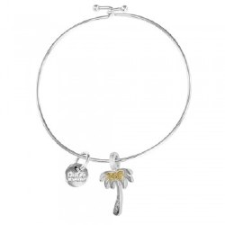 Bangle Beach Palm Tree Turq