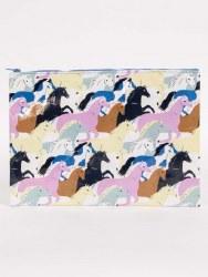 Jumbo Pouch Wild Horses