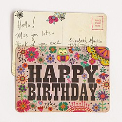 Magnet Postcard Happy Birthday
