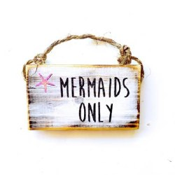 Sign Mermaid 3 x 6
