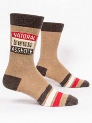 Men Socks Natural Born Asshole