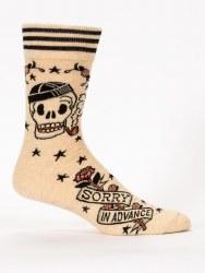 Mens Socks Sorry In Advance