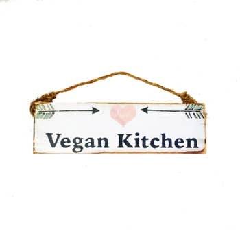 Sign Vegan Kitchen 3 X 12