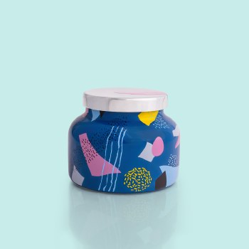 Volcano Blue Ceramic Jar 19oz