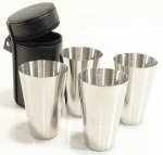 2oz Stainless Steel 4 Cup Set