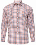 Ilkley Shirt Russet Check 16.5