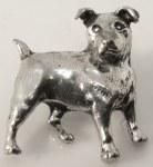 Pewter Brooch - Terrier