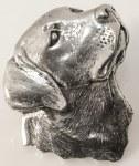 Pewter Brooch - Labrador Head