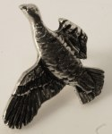 Pewter Brooch - Flying Grouse