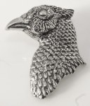 Pewter Brooch - Pheasant Head