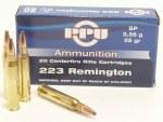 PPU .223 Remington 55gr SP