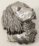 Pewter Brooch - Spaniel Head