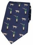 Woven Silk Tie Pointer Navy