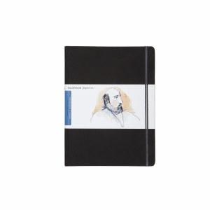 Hand Book Travelogue Journal Portrait Ivory Black 10.5x8.25