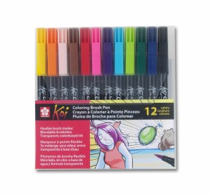 Sakura Koi Brush Pen Set of 12 Assorted Colors