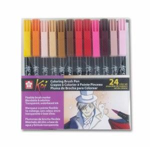 Sakura Koi Brush Pen Set of 24 Assorted Colors