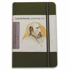 Hand Book Travelogue Journal Portrait Cadmium Green 3.5x5.5