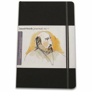 Hand Book Travelogue Journal Portrait Ivory Black 3.5x5.5