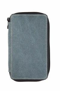 Global Art Steel Blue Canvas Pencil Case 48ct.