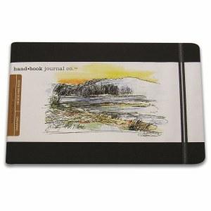 Hand Book Travelogue Journal Landscape Ivory Black 8.25x5.5