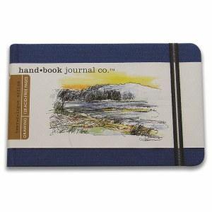 Hand Book Travelogue Journal Landscape Ultramarine Blue 8.25x5.5