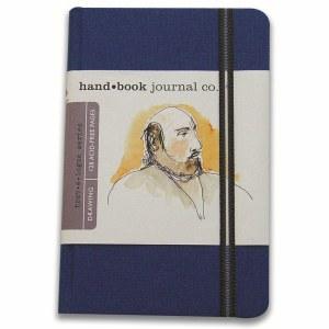 Hand Book Travelogue Journal Portrait Ultramarine Blue 5.5x8.2