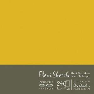 Flexi Sketch Book 8X8 Butternut 240 Sheets