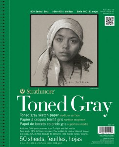 Strathmore 400 Series Toned Gray Sketch Pad 9x12
