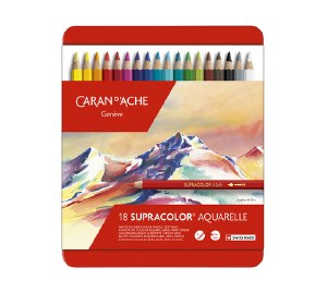 Caran D'Ache Supracolor Watersoluble Pencil Set of 18