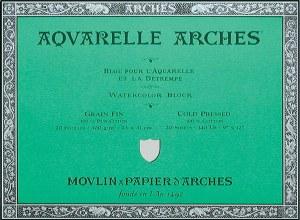 Arches 140lb Cold Press Block 10x14 20 sheets