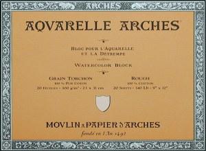 Arches 140lb Rough Block 9x12 20 sheets