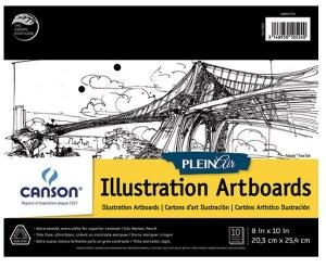 Canson Plein Air Illustration Artboard Pad 8x10