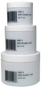 Empty Plastic Double Wall Jar 8oz