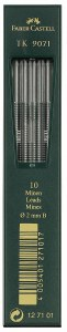 Faber-Castell TK 9071 Lead 10 ct. tubes, 2mm leads 3B