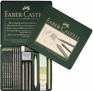 Faber-Castell Pitt Monochrome Graphite Set of 18