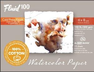 Global  Fluid 100 Cold Press Block 4x6 140 lb. 15 Sheets