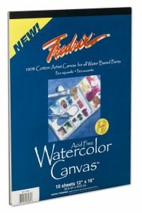 Fredrix Watercolor Canvas Pad 9x12 (10 Sheets)
