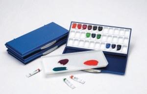 Mijello Airtight/ Leak Proof Watercolor Palette (33 wells) - Blue
