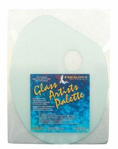Amaco Classic Oval Safety Glass Palette 11x14 Oval