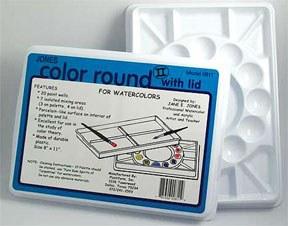 Jones Color Round Palette for Watercolors 8x11
