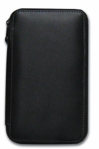 Global Art Black Leather Pencil Case 24ct.
