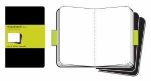 Moleskine Black Plain Cahier Journal Pocket Set of 3